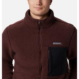 Columbia Mountainside Fleece Jacket Men, burgundy navy